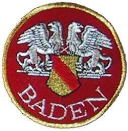 Stoffabzeichen - Aufnäher - Baden  rund mit Greifen
