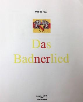 Das Badnerlied 962 Strophen