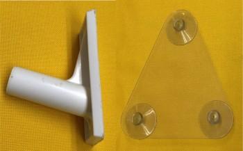 Halterung Set 75 Grad für PVC Rohr