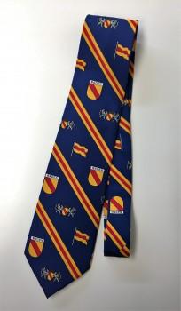 Krawatte Baden Design 7 blau Wappen und diagonal