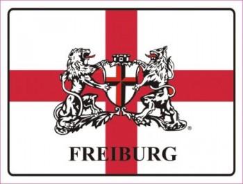Alu-Schild Freiburg mit Wappen