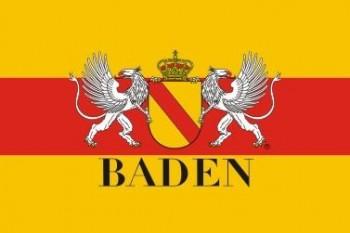 Bad. Hissflaggen im Querformat mit Wappen 60x90