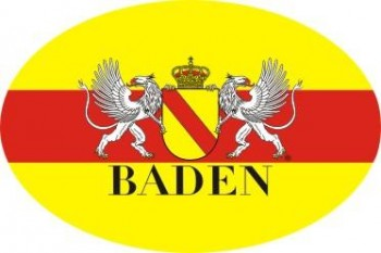 Baden oval mit Wappen