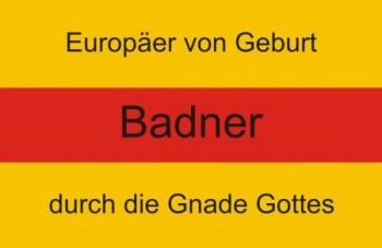 Aufkleber Baden mit Wappen und Text 4