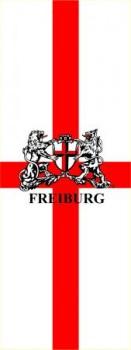 Freiburg Hissflagge mit Wappen im Hochformat