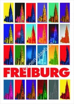 Plakat, Poster, Kunstdruck Freiburg Münster
