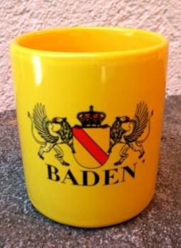Kaffeebecher Baden - Gelb
