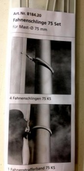 Fahnenmastschlingen 75er Set aus Kunststoff
