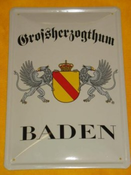 Großherzugthum Baden Blechschild