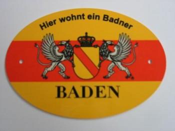 Türschild oval Baden