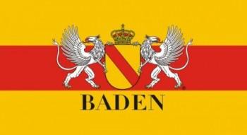 Papierfahne Baden mit Wappen