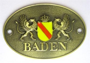 Türschild Baden oval