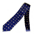 Krawatte Baden Design 1 blau kleine Wappen