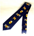 Krawatte Baden Design 5 blau Wappen