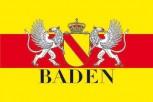 Fahne Baden mit Wappen und Greif