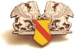 Pin Republik Baden echte Emaille klein