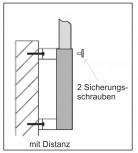 Wandhülse mit Distanz Stahl für 90 mm Mast