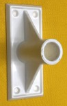 Kunststoffhalter 90 Grad für PVC Rohr
