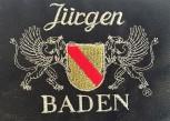 Kochjacke schwarz mit Wappen Baden und Namen