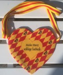 Badische Herztasche - Handarbeit