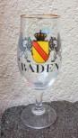 Biertulpe / Pilsglas Baden mit Wappen und Greifen