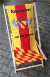 """Liegestuhl """"Reserviert für Badner"""""""