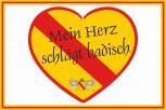 Bad. Hissflaggen mit Herz 40x60