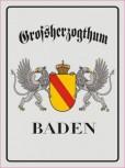 Alu-Schild Großherzogthum Baden