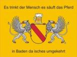 Alu-Schild Baden Bier 30x20 cm