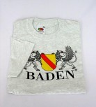 Qualitäts-T-shirt mit Wappen Baden orange / XL
