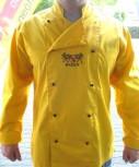 Kochjacke gelb mit Wappen Baden und Namen