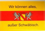 Aufkleber Baden mit Wappen und Text 1