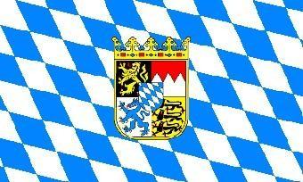 Bayern-Raute mit Wappen