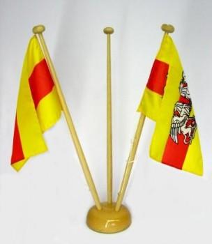 Tischfahne Baden ohne Ständer mit Wappen