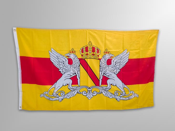 Fahne mit Wappenform vom Großherzogthum - ca. 90 x 150 cm
