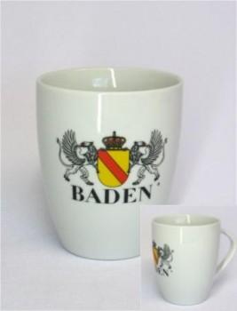 Tasse - Weiß - mit Badischem Wappen