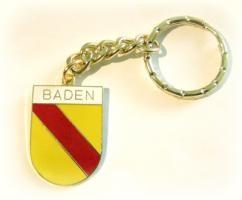 Schlüsselanhänger Baden Metall - Wappenform