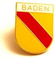 Pin Baden groß - Goldfarbener Rand