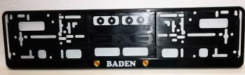 Auto KFZ Nummernschild Halter mit Wappen Baden