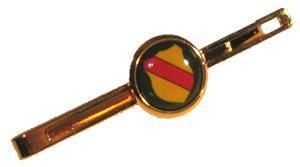 Krawattennadel mit Wappen Baden, vergoldet