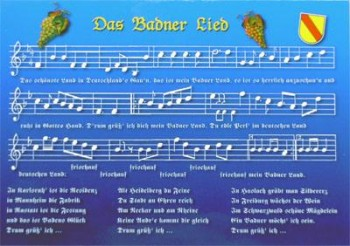 Postkarte Badner Lied