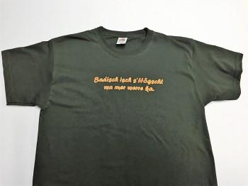 Qualitäts-Shirt Spruch Badisch isch