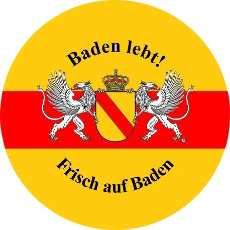 """Bierdeckel Baden lebt """"Frisch auf Baden"""""""