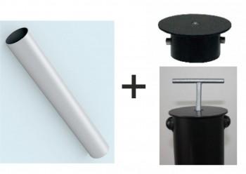 90 mm Hülse und Bodendeckel sperrbar