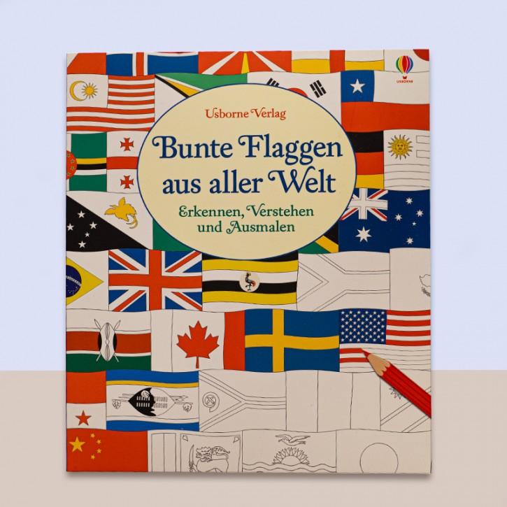 Bunte Flaggen aus aller Welt - Erkennen, Verstehen und Ausmalen