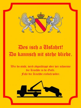 Des isch a Usfahrt Alu Schild 30x20 cm