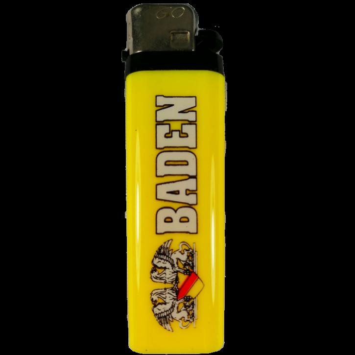 Feuerzeug BADEN gelb