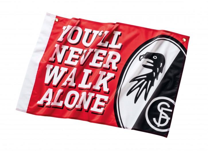 """SC Freiburg Fahne """"YNWA"""""""