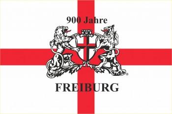 900 Jahre Freiburg Kreuz Hissflagge im Querformat