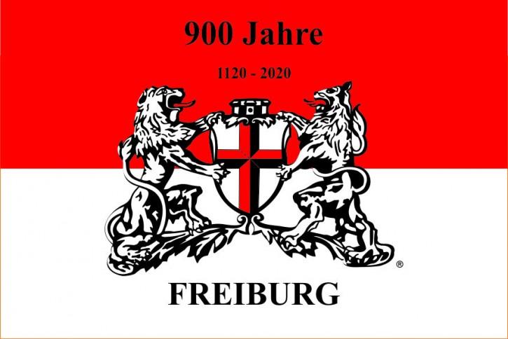 900 Jahre Freiburg Hissflagge im Querformat mit Wappen 100x150